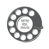 Vector retro disk dialer. Royalty Free Stock Images