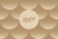 Vector Retro Dotwork Texture Background. Vector hand made dotwork background in retro and vintage style. Abstract dotted stippling engraving. Artistic 3d Royalty Free Stock Photography