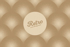 Vector Retro Dotwork Texture Background. Vector hand made dotwork background in retro and vintage style. Abstract dotted stippling engraving. Artistic 3d Royalty Free Stock Images