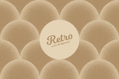 Vector Retro Dotwork Texture Background. Vector hand made dotwork background in retro and vintage style. Abstract dotted stippling engraving. Artistic 3d Stock Images