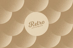 Vector Retro Dotwork Texture Background. Vector hand made dotwork background in retro and vintage style. Abstract dotted stippling engraving. Artistic 3d Stock Photos