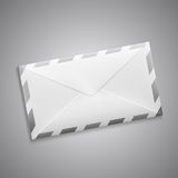 Vector retro envelope with stripes Stock Photography
