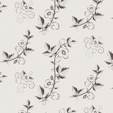 Vector retro floral pattern with flowers Royalty Free Stock Photo