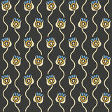 Vector retro floral seamless pattern Royalty Free Stock Photography