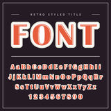 Vector Retro Font. Vintage Alphabet. With uppercase and lowercase letters Vector Illustration