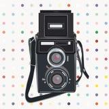 Vector retro fotocamera Royalty-vrije Stock Fotografie