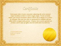 Vector retro frame certificate template Royalty Free Stock Photography