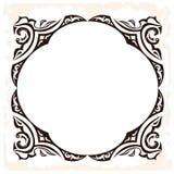 Vector retro frame Decoratieve uitstekende achtergrond Stock Afbeelding