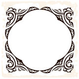 Vector retro frame. Decorative vintage background Stock Image