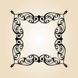 Vector  retro frames .Vector illustration. Black . Stock Photos