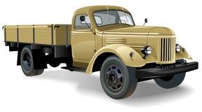 Vector retro geïsoleerdee vrachtwagen stock illustratie