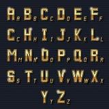 Vector retro golden alphabet Royalty Free Stock Photos