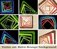 The vector retro grunge background Stock Photos