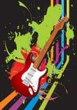 Vector Retro Guitar Royalty Free Stock Photo