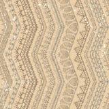 Vector retro haakt naadloos patroon Royalty-vrije Stock Fotografie