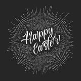 Vector retro Happy Easter card / poster Royalty Free Stock Image