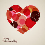 Vector retro heart. Made from color circles Royalty Free Stock Photo
