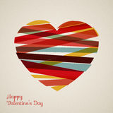 Vector retro heart Stock Photo