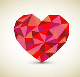 Vector retro heart. Made from color triangles Stock Photography