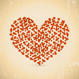 Vector retro heart background. Vector retro heart from small rings Stock Photo