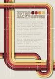 Vector Retro- Hintergrund/Schablone mit Streifen Stockfotografie