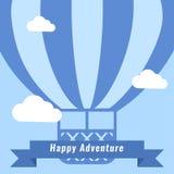 Vector Retro Hot Air Balloon Background Stock Photo