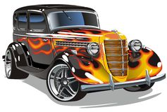 Vector retro hotrod vector illustration
