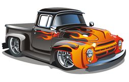 Vector retro hotrod royalty free illustration