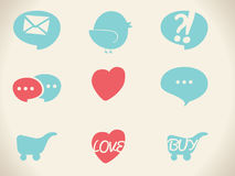 Vector retro icons Royalty Free Stock Photo