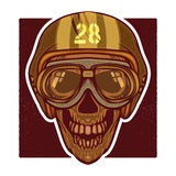 Vector retro illustration of human skull head Royalty Free Stock Photography