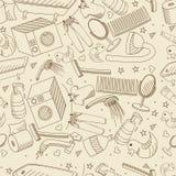 Vector retro inconsútil del cuarto de baño Imagen de archivo libre de regalías