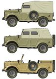 Vector retro jeep. Vector illustration army car set. Available  AI-10 vector format separated by groups and layers for easy editing Stock Image