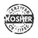 Vector retro kosher teal vintage stamp for quality mark. Royalty Free Stock Photography