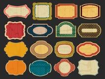 Vector retro labels Stock Image