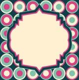 Vector retro lay-out op abstract geometrisch naadloos patroon Stock Illustratie