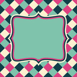 Vector retro layout on abstract geometric seamless pattern Stock Images
