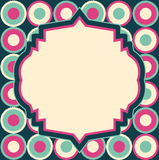Vector retro layout on abstract geometric seamless pattern Royalty Free Stock Photography