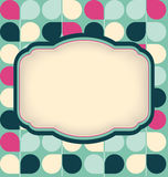 Vector retro layout on abstract geometric seamless pattern Royalty Free Stock Photo