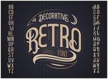 Vector retro lettersoort Vector doopvont stock illustratie