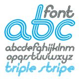 Vector retro lowercase English alphabet letters, abc collection. Cool disco cursive font, script from a to z can be used in poster art. Created using geometric Royalty Free Stock Image