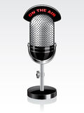 Vector retro microphone Royalty Free Stock Image