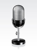 Vector retro microphone Stock Images