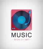 Vector retro music logo, icon Stock Image