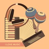 Vector retro music poster Stock Photo