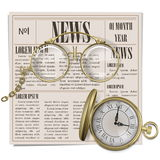 Vector Retro Newspaper Concept Stock Image