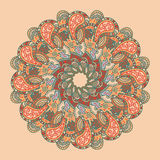 Vector retro ornamental round lace pattern Royalty Free Stock Image