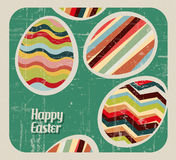 Vector retro Paper easter egg card Royalty Free Stock Images