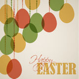 Vector retro Paper easter egg card / poster Stock Photos