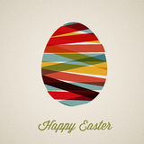 Vector retro Paper easter egg card / poster Stock Images