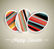 Vector retro Paper Easter egg card Stock Photography